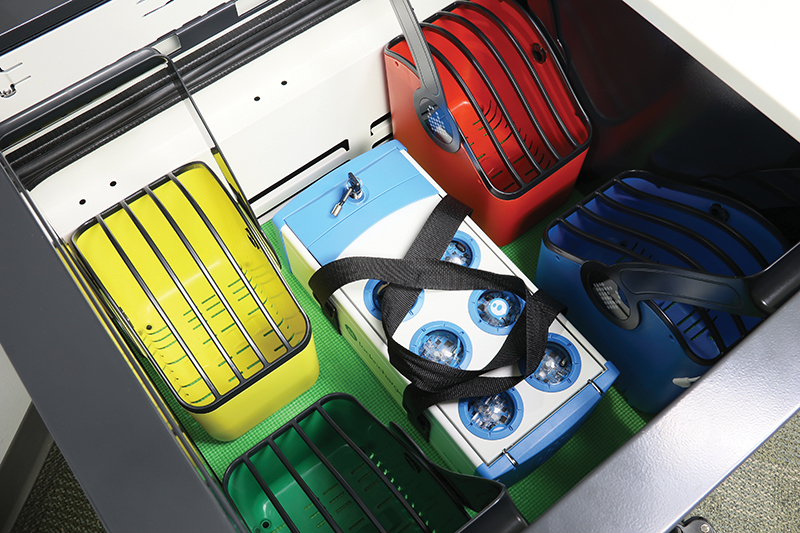Sphero Charging Case Fits Neatly Inside a Carrier Cart